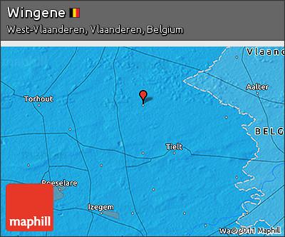 Political 3D Map of Wingene