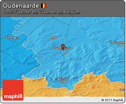 Political 3D Map of Oudenaarde