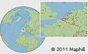 Savanna Style Location Map of Evergem