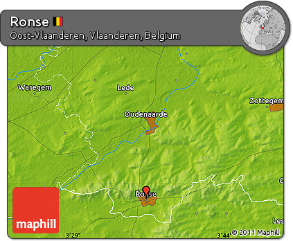 Physical Map of Ronse