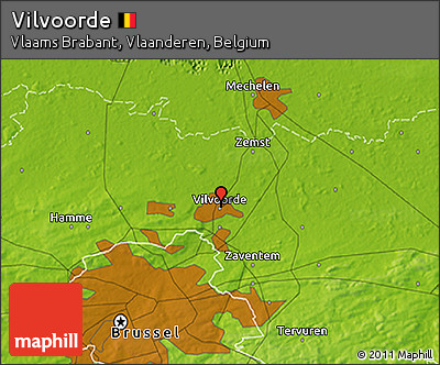 Physical 3D Map of Vilvoorde