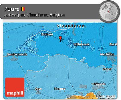 Political 3D Map of Puurs