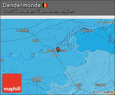Political 3D Map of Dendermonde