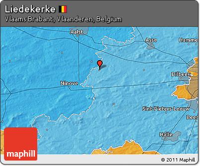 Political 3D Map of Liedekerke