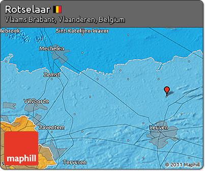 Political 3D Map of Rotselaar
