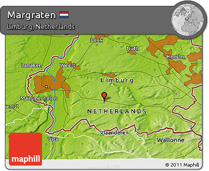 Free Physical 3D Map of Margraten
