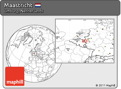 Free Blank Location Map of Maastricht
