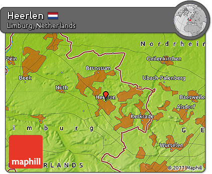 Free Physical Map of Heerlen
