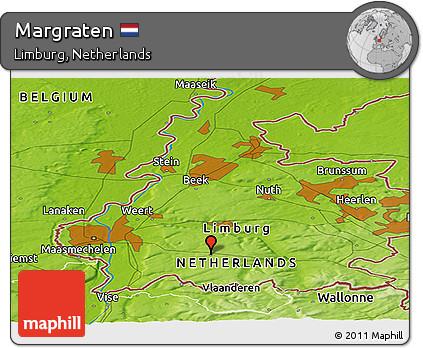 Free Physical Panoramic Map of Margraten
