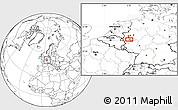 Blank Location Map of Langenfeld