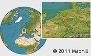 Satellite Location Map of Langenfeld