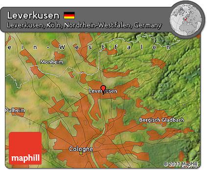 Free Satellite Map of Leverkusen