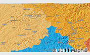 """Political 3D Map of the area around 50°55'47""""N,7°43'29""""E"""