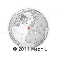 """Outline Map of the Area around 50° 55' 47"""" N, 7° 34' 30"""" W, rectangular outline"""