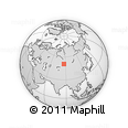 Outline Map of Altai Republic, rectangular outline