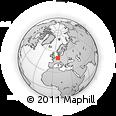 Outline Map of Marburg, rectangular outline