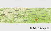 """Physical Panoramic Map of the area around 50°55'47""""N,8°34'29""""E"""