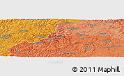 """Political Panoramic Map of the area around 50°55'47""""N,8°34'29""""E"""