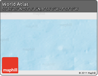 """Shaded Relief 3D Map of the Area around 50°55'47""""N,8°25'30""""W"""