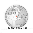 """Outline Map of the Area around 50° 55' 47"""" N, 8° 25' 30"""" W, rectangular outline"""