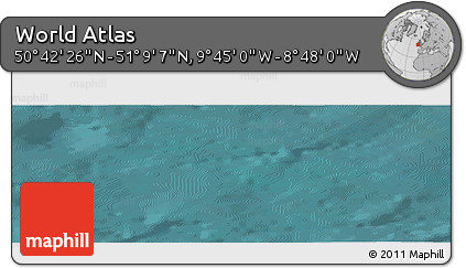 "Satellite Panoramic Map of the Area around 50°55'47""N,9°16'30""W"