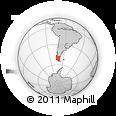 Outline Map of El Calafate, rectangular outline