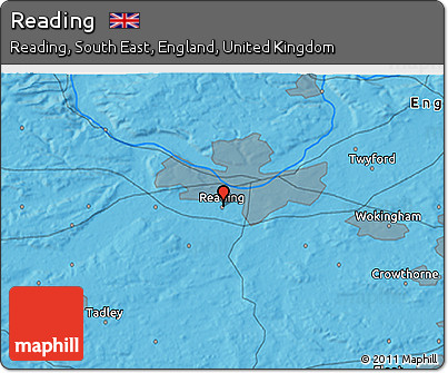Free Political 3D Map of Reading
