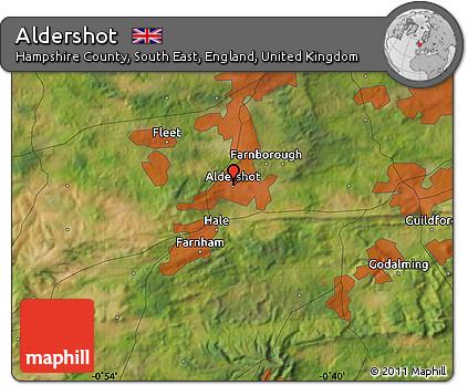 Free Satellite Map Of Aldershot