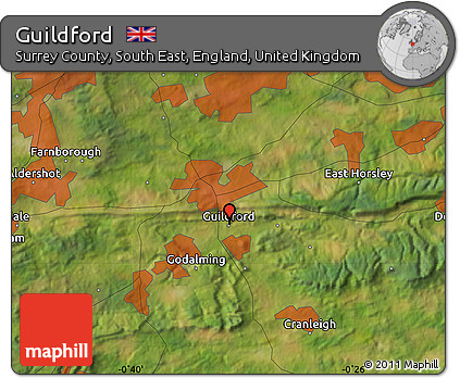 Guilford England Map.Free Satellite Map Of Guildford