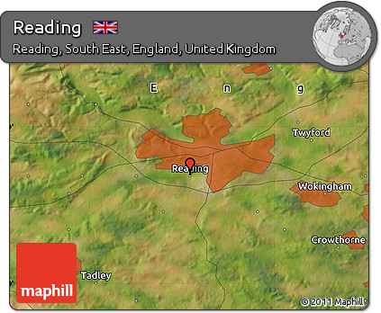 Free Satellite Map of Reading
