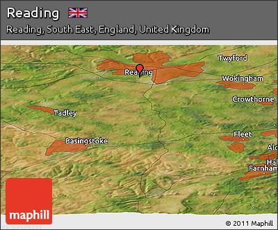 Free Satellite Panoramic Map of Reading