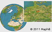 """Satellite Location Map of the area around 51°19'36""""N,10°16'30""""E"""