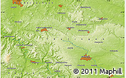 """Physical Map of the area around 51°19'36""""N,10°16'30""""E"""