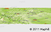 """Physical Panoramic Map of the area around 51°19'36""""N,10°16'30""""E"""