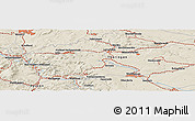 """Shaded Relief Panoramic Map of the area around 51°19'36""""N,10°16'30""""E"""