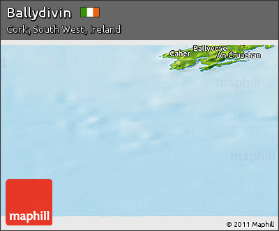 Physical Panoramic Map of Ballydivin