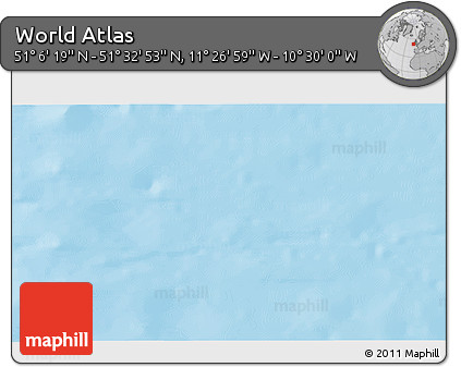 """Shaded Relief 3D Map of the Area around 51°19'36""""N,10°58'29""""W"""