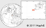 """Blank Location Map of the area around 51°19'36""""N,10°58'29""""W"""