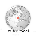 """Outline Map of the Area around 51° 19' 36"""" N, 10° 58' 29"""" W, rectangular outline"""