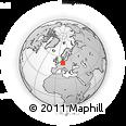 Outline Map of Billroda, rectangular outline
