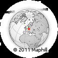 Outline Map of Leipzig, rectangular outline