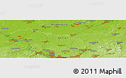 "Physical Panoramic Map of the area around 51° 19' 36"" N, 13° 40' 30"" E"