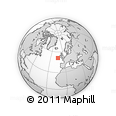 """Outline Map of the Area around 51° 19' 36"""" N, 13° 31' 30"""" W, rectangular outline"""