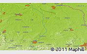 Physical 3D Map of Hoyerswerda