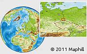 Physical Location Map of Hoyerswerda