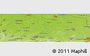 Physical Panoramic Map of Hoyerswerda