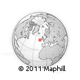 """Outline Map of the Area around 51° 19' 36"""" N, 14° 22' 30"""" W, rectangular outline"""