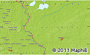 """Physical Map of the area around 51°19'36""""N,23°52'30""""E"""