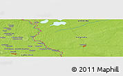 """Physical Panoramic Map of the area around 51°19'36""""N,23°52'30""""E"""