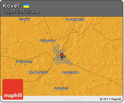 Free Political 3D Map of Kovel